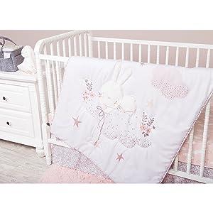 crib bedding, white crib bedding, bunny crib bedding, neutral crib bedding