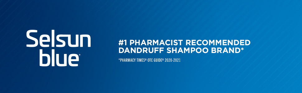 Selsun Blue Dandruff Shampoo is most recommended by pharmacists.