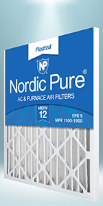 Nordic Pure 14x20x1 MERV 12 Pleated AC Furnace Air Filters 2 Pack