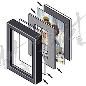 photo frame illustration, photo frame with mount, large photo frame, art street picture frame