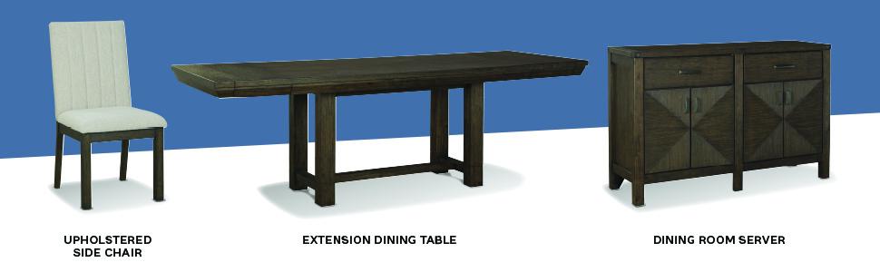white upholstered side chair extension dining table server dark brown ivory velvet fully upholstery