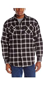Wrangler Authentics Long Sleeve Quilted Lined Flannel Shirt