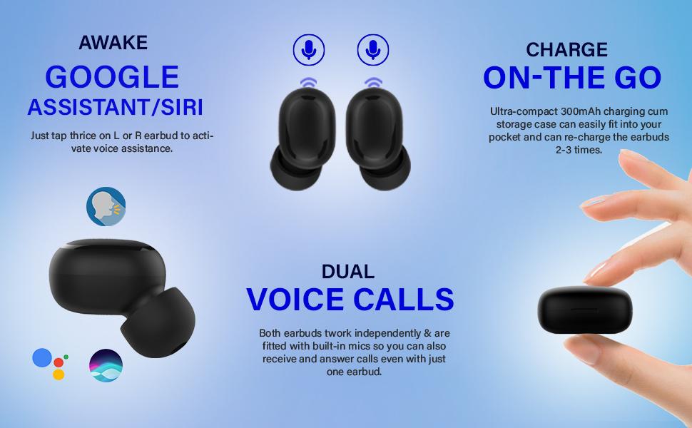 pTron Bassbuds Pro Bluetooth Headset