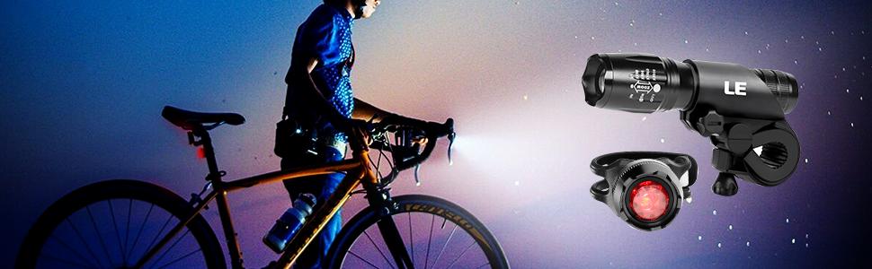 Lighting EVER LE Luces de Bicicleta, Linterna LED Potente 5 Modos ...