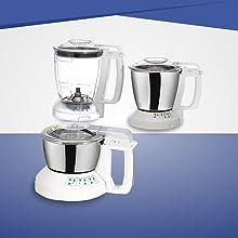 Panasonic MX-AC300 550-Watt 3-Jar Super Mixer Grinder (Grey)