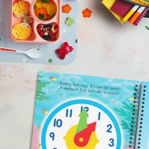Clock, lunch, food