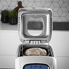 Princess 152006 Panificadora completamente automática, 15 programas digitales, programa especial sin gluten, temporizador digital, capacidad de 900 gramos, Blanco: Amazon.es: Hogar