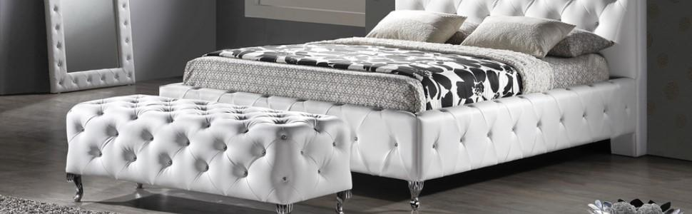 black bed upholstered bed tufted bed glam bed luxe bed - Black Tufted Bed