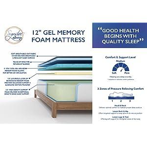 zinus mattress, linen spa mattress, memory foam mattress, mattress, bed, best mattress