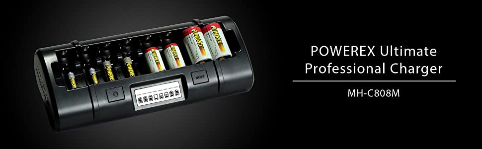 Maha PowerEx MH-C808M Charger for Eight AA/AAA/C/D NiMH/NiCD Batteries