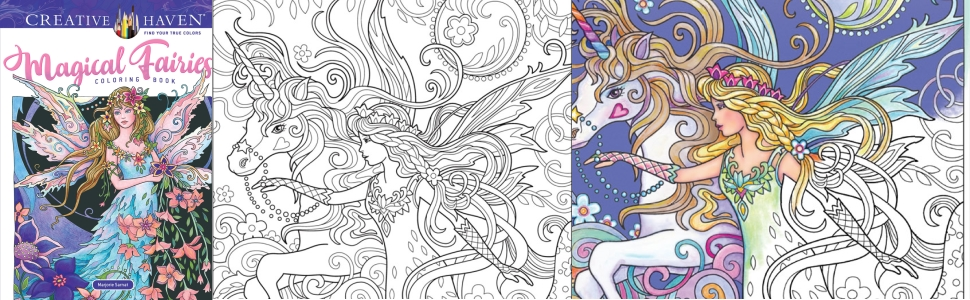 adult coloring fairies