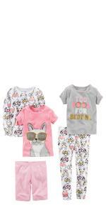 b1e19147e Amazon.com  Carter s Girls  2-Pack Cotton Pajamas  Clothing
