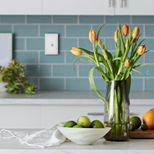 C by GE Smart Switch on wall in kitchen