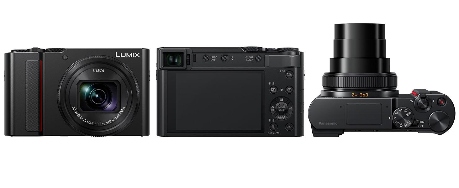 PANASONIC LUMIX ZS200 4K Digital Camera, DC-ZS200K, 20 1 Megapixel 1-Inch  Sensor, 15X LEICA DC VARIO-ELMAR Lens, F3 3-6 4 Aperture, HYBRID OIS