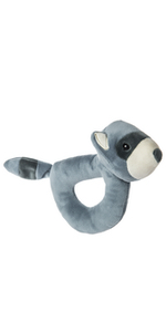 raccoon soft toy ring rattle