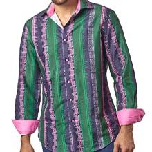 pink trim mens shirt
