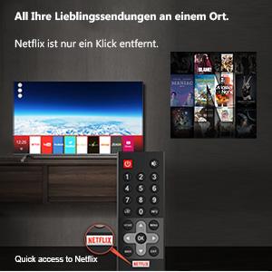 Coocaa TV Smart met netflix