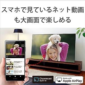 スマートフォンで見ている動画を大画面に映す     外出中スマートフォンで視聴していたネット動画を、家では大画面のブラビアに映し出すことができ、迫力のある映像を楽しめます。