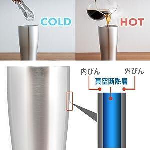 真空断熱層で適温をキープ