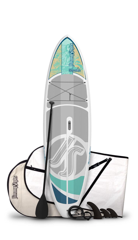 Amazon Com Jimmystyks Misstyk Paddleboard Grey Blue 10