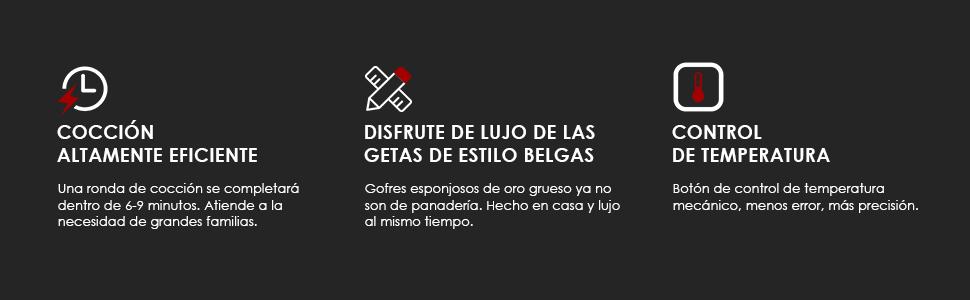 Gofrera Belga 1200W Aicook: Amazon.es: Hogar