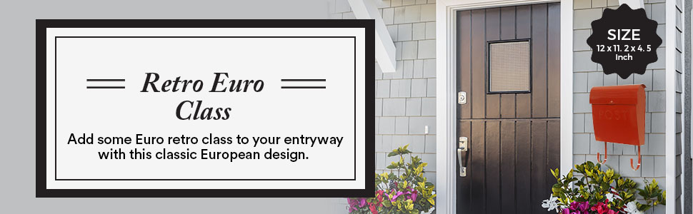 Add some Euro retro class to your entryway with this classic European design