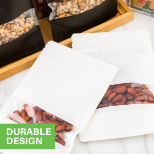 These stylish treat bags are made from premium plastic to resist tears and punctures.