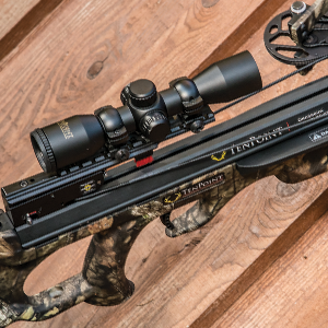 TenPoint 3x Pro-View 3 crossbow scope mounted on TenPoint Shadow NXT crossbow.