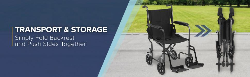Amazon.com: Drive Medical ligero Acero Transporte Silla De ...