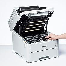 Brother MFC-L3710CW - Impresora multifunción (Wifi, USB 2.0, 512 ...