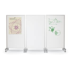 Amazon Com Best Rite 62406 Trek Mobile Double Sided Dry Erase Whiteboard Easel Room Divider 65 H X 34 75 W Frame Black Panel Screens Office Products