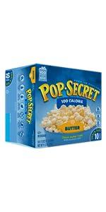 100 calorie popcorn, healthy popcorn, pop secret