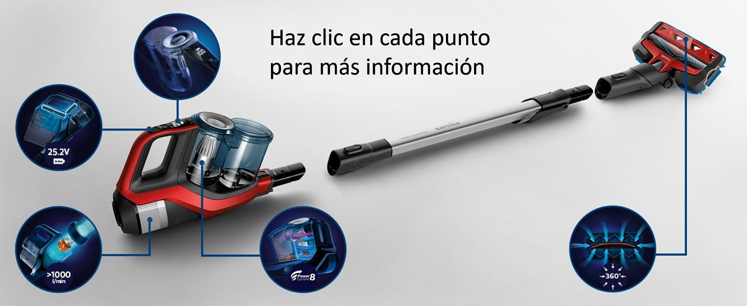 Philips Speedpro Max FC6823/01 - Escoba Aspiradora vertical ...