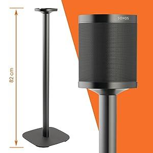 Vogel S Sound 4301 Lautsprecher Ständer Für Sonos One Sl Integriertes Verlängerungskabel Höhe 82 Cm Max 5 Kg Schwarz 1 Standfuß Audio Hifi