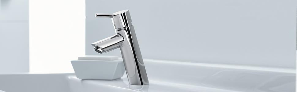 Hansgrohe Talis S Modern N A Handle Inch Tall Bathroom Sink