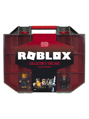Roblox Toolbox Toy Amazon Com Roblox Action Collection Collector S Tool Box And Carry Case That Holds 32 Figures Includes Exclusive Virtual Item Amazon Exclusive Toys Games