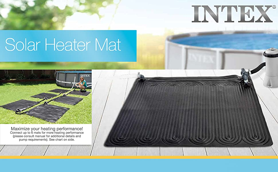 Intex Solar Heater Mat For Above Ground Swimming Pool 47in X 47in Garden Outdoor