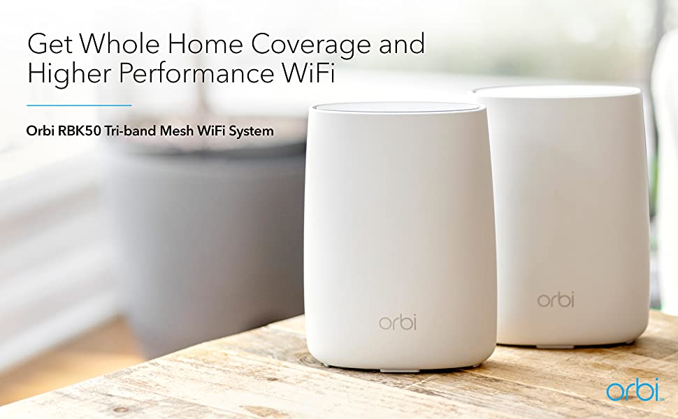get whole home coverage and higher performance wifi