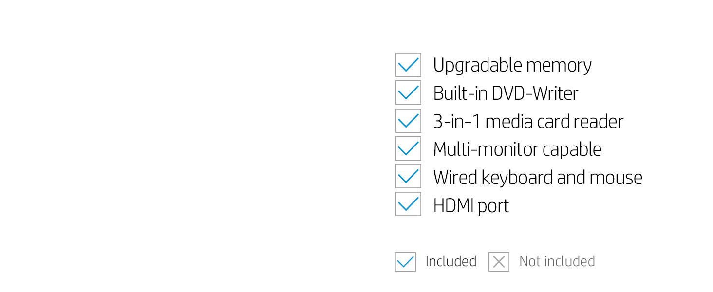 Additional efficiency 3-in-1 media card reader multi-monitor capable display keyboard
