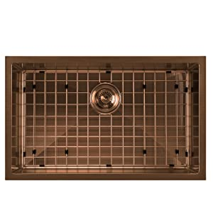 WHNPL2918, Copper, Stainless Steel, Sink, Kitchen, Noah Plus, Undermount, Grid, Drain