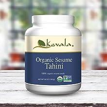 Sesame Tahini, Organic Tahini, Sesame seeds dip, dressing, sesame seed butter, sesame spread