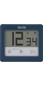 タニタ タイマー 防水 タッチパネル ブルー TD-414 BL