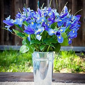 Iris Bouquet Blue Flowers