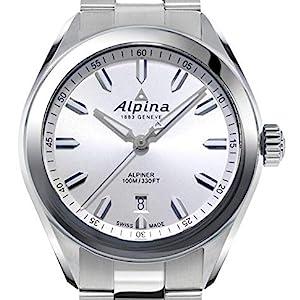 Alpina Alpiner Blue Dial Stainless Steel Swiss Quartz Watch, Sport Watch, Luminous Markers, date