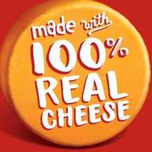 Cheez It Crackers are made with one hundred percent real cheese