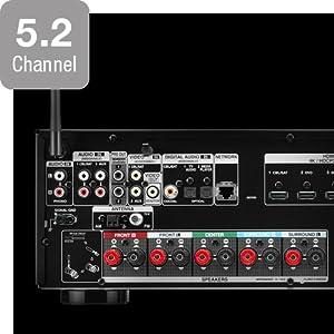Amplificador discreto de 5 canales de alto rendimiento