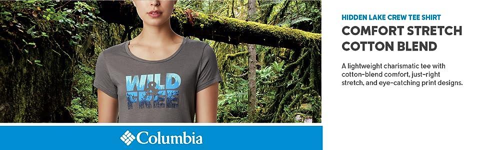Columbia WOmen's Hidden Lake Crew Tee Shirt
