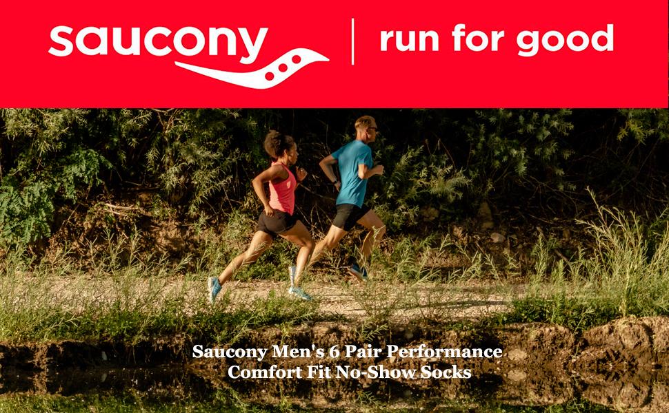 Saucony Men's 6 Pair Performance Comfort socks