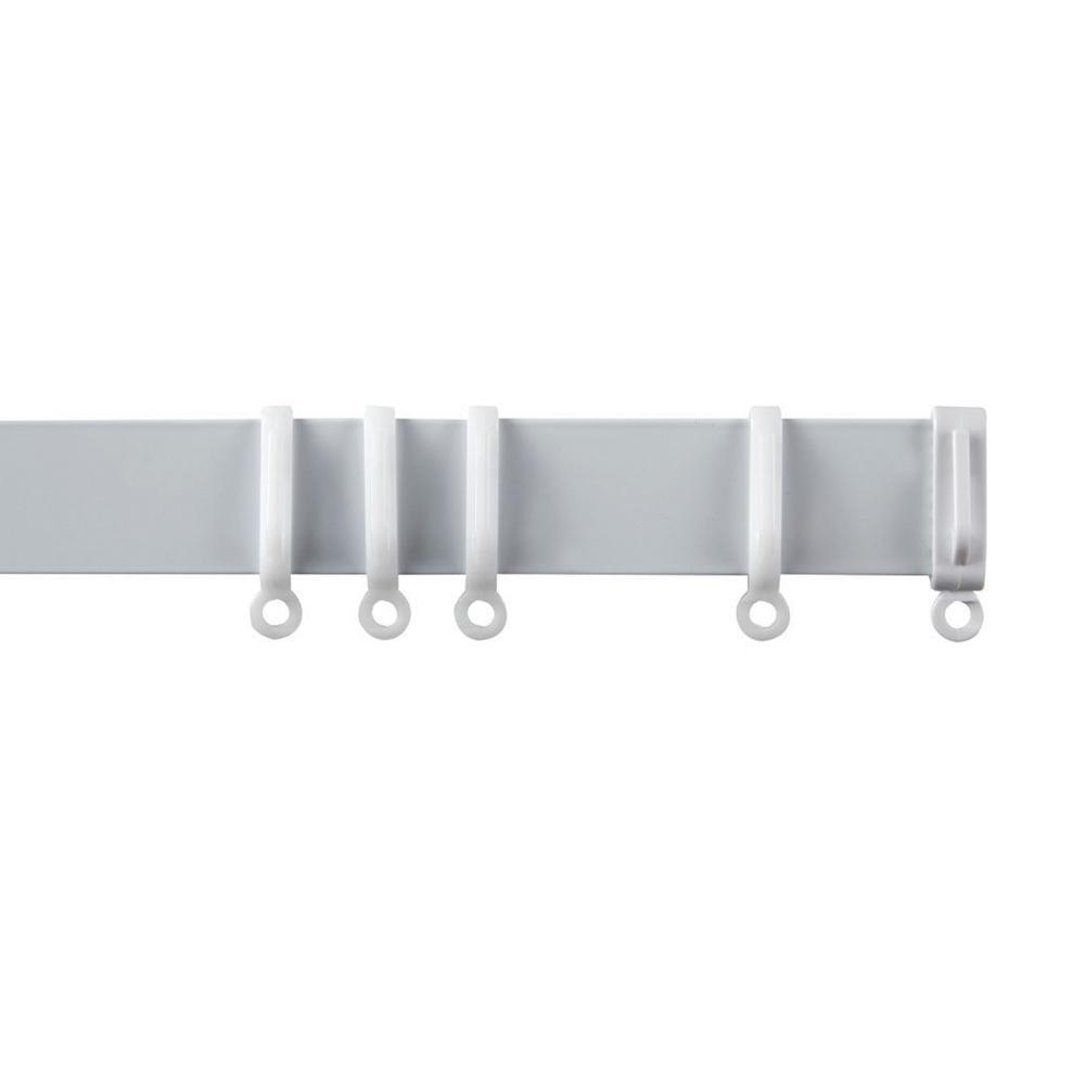 Speedy Streamline Curtain Track Gliders/Hooks, White, 10