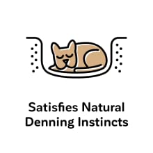 Satisfies natural denning instincts
